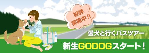 好評実施中 愛犬と行くバスツアー 申請GODOGスタート!